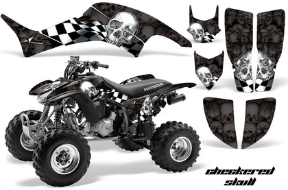 Tribal Flames Black /& Silver AMR Racing ATV Graphics kit Sticker Decal Compatible with Honda TRX400EX 1999-2007