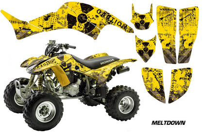 ATV Graphics Kit Decal Quad Sticker Wrap For Honda TRX400EX 1999-2007 MELTDOWN BLACK YELLOW