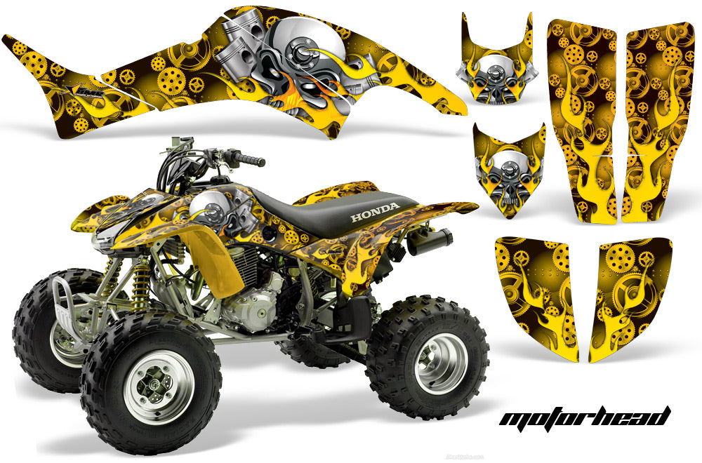 ATV Graphics Kit Decal Quad Sticker Wrap For Honda TRX400EX 1999-2007 MOTORHEAD YELLOW-atv motorcycle utv parts accessories gear helmets jackets gloves pantsAll Terrain Depot