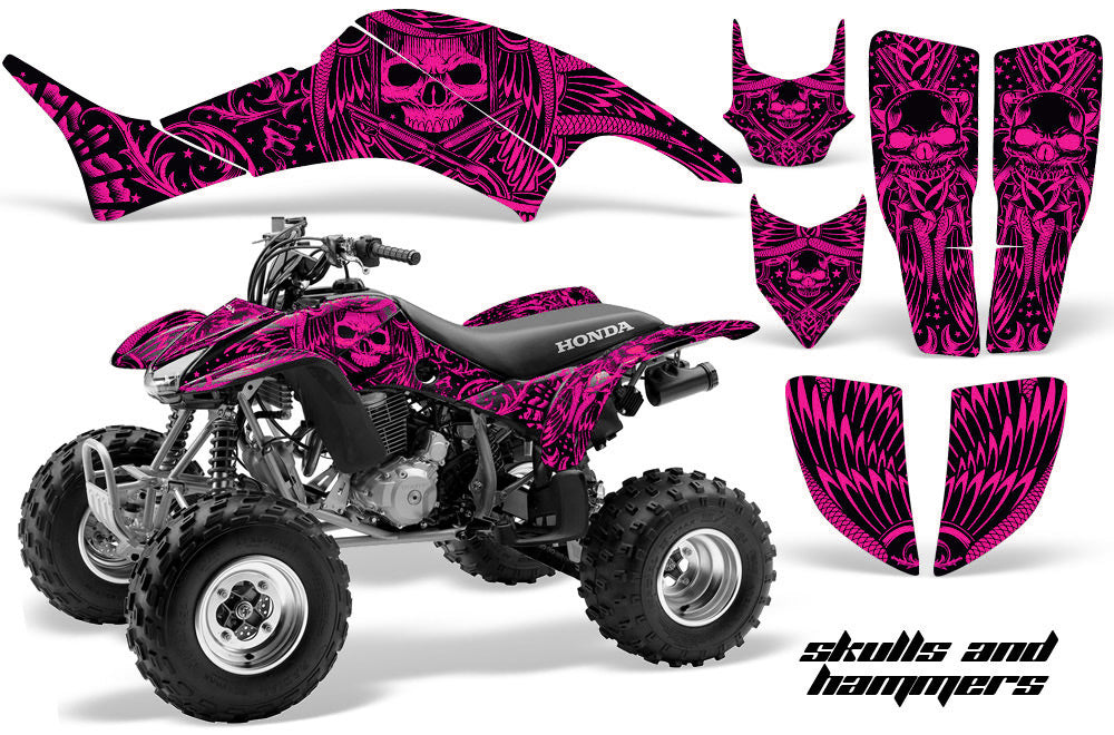 ATV Graphics Kit Decal Quad Sticker Wrap For Honda TRX400EX 1999-2007 HISH PINK-atv motorcycle utv parts accessories gear helmets jackets gloves pantsAll Terrain Depot