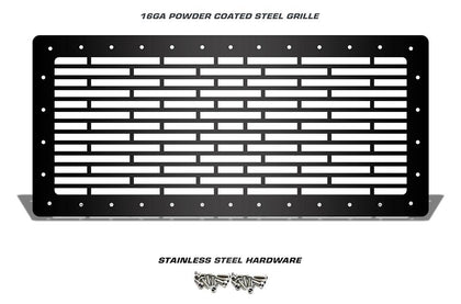 1 Piece Steel Grille for Jeep Wrangler 2007-2016 - BRICKS