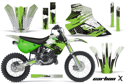 Dirt Bike Graphics Kit Decal Wrap For Kawasaki KX80 KX100 1995-1997 CARBONX GREEN
