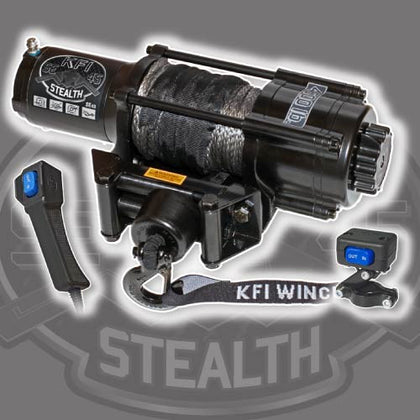 KFI SE45w 4500 Lb. Stealth Winch Kit (WIDE) - Allterraindepot