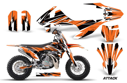 Dirt Bike Decal Graphics Kit Sticker Wrap For KTM SX50 SX 50 2016-2018 ATTACK ORANGE