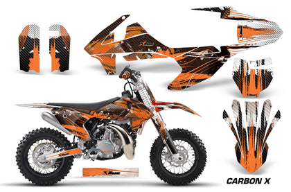 Dirt Bike Decal Graphics Kit Sticker Wrap For KTM SX50 SX 50 2016-2018 CARBONX ORANGE