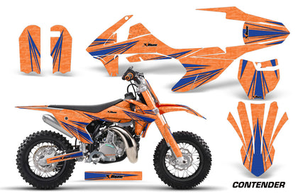Dirt Bike Decal Graphics Kit Sticker Wrap For KTM SX50 SX 50 2016-2018 CONTENDER BLUE ORANGE
