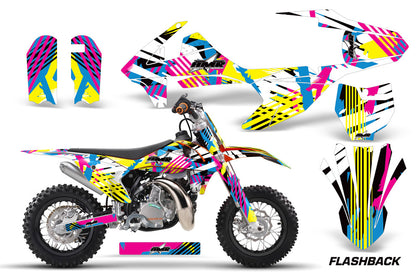 Dirt Bike Decal Graphics Kit Sticker Wrap For KTM SX50 SX 50 2016-2018 FLASHBACK