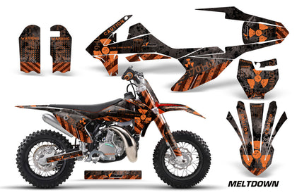 Dirt Bike Decal Graphics Kit Sticker Wrap For KTM SX50 SX 50 2016-2018 MELTDOWN ORANGE BLACK
