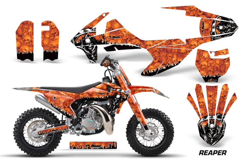 Dirt Bike Decal Graphics Kit Sticker Wrap For KTM SX50 SX 50 2016-2018 REAPER ORANGE