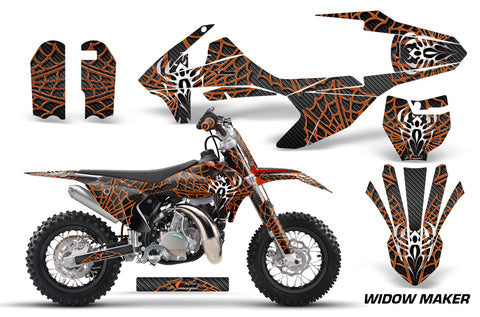 Dirt Bike Decal Graphics Kit Sticker Wrap For KTM SX50 SX 50 2016-2018 WIDOW ORANGE BLACK