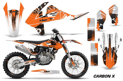 GraphicS Kit Decal Wrap + # Plates For KTM SX SXF XCF 250/350/450 2016+ CARBONX ORANGE