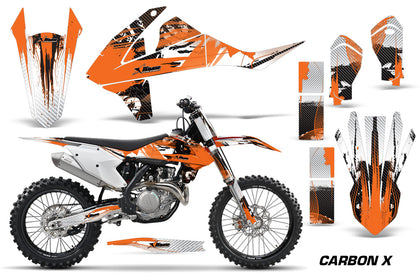 Dirt Bike Decal Graphic Kit Wrap For KTM SX SXF XCF 250/350/450 2016+ CARBONX ORANGE