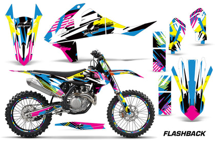 GraphicS Kit Decal Wrap + # Plates For KTM SX SXF XCF 250/350/450 2016+ FLASHBACK