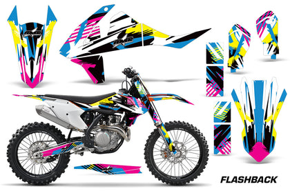 Dirt Bike Decal Graphic Kit Wrap For KTM SX SXF XCF 250/350/450 2016+ FLASHBACK