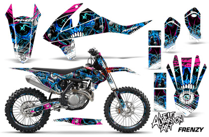 GraphicS Kit Decal Wrap + # Plates For KTM SX SXF XCF 250/350/450 2016+ FRENZY BLUE