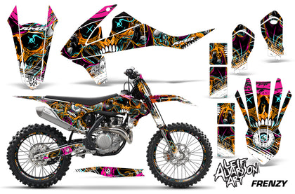 GraphicS Kit Decal Wrap + # Plates For KTM SX SXF XCF 250/350/450 2016+ FRENZY ORANGE