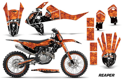 GraphicS Kit Decal Wrap + # Plates For KTM SX SXF XCF 250/350/450 2016+ REAPER ORANGE