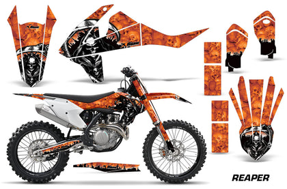 Dirt Bike Decal Graphic Kit Wrap For KTM SX SXF XCF 250/350/450 2016+ REAPER ORANGE