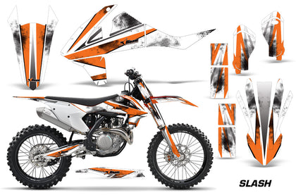 Dirt Bike Decal Graphic Kit Wrap For KTM SX SXF XCF 250/350/450 2016+ SLASH ORANGE