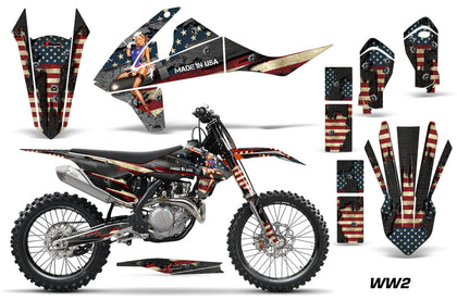 GraphicS Kit Decal Wrap + # Plates For KTM SX SXF XCF 250/350/450 2016+ WW2 BOMBER