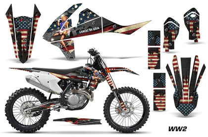 Dirt Bike Decal Graphic Kit Wrap For KTM SX SXF XCF 250/350/450 2016+ WW2 BOMBER