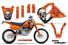Load image into Gallery viewer, Dirt Bike Graphics Kit Decal Sticker Wrap For KTM SX/XC/EXC/LC4 1993-1997 BONES ORANGE-atv motorcycle utv parts accessories gear helmets jackets gloves pantsAll Terrain Depot