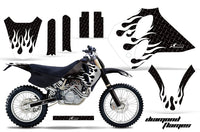 Dirt Bike Graphics Kit Decal Sticker Wrap For KTM SX/XC/EXC/LC4 1993-1997 DIAMOND FLAMES WHITE BLACK