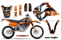 Dirt Bike Graphics Kit Decal Sticker Wrap For KTM SX/XC/EXC/LC4 1993-1997 HATTER BLACK ORANGE
