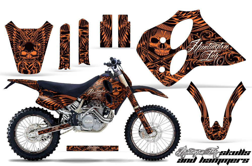 Graphics Kit Decal Sticker Wrap + # Plates For KTM SX/XC/EXC/LC4 1993-1997 HISH ORANGE-atv motorcycle utv parts accessories gear helmets jackets gloves pantsAll Terrain Depot