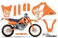 Graphics Kit Decal Sticker Wrap + # Plates For KTM SX/XC/EXC/LC4 1993-1997 RELOADED WHITE ORANGE
