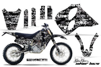 Graphics Kit Decal Sticker Wrap + # Plates For KTM SX/XC/EXC/LC4 1993-1997 SSSH WHITE BLACK