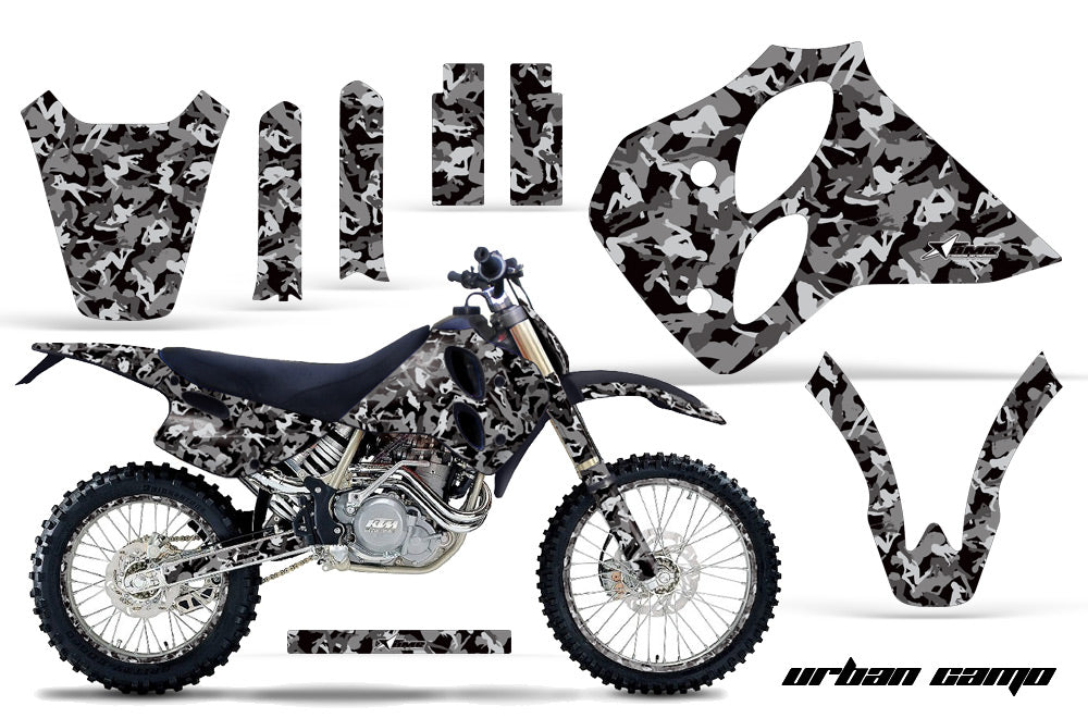 Graphics Kit Decal Sticker Wrap + # Plates For KTM SX/XC/EXC/LC4 1993-1997 URBAN CAMO BLACK
