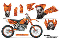 Graphics Kit Decal Wrap + # Plates For KTM  SX SXS EXC MXC 2001-2004 BONES ORANGE