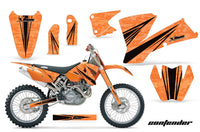 Dirt Bike Graphics Kit Decal Wrap For KTM  SX SXS EXC MXC 2001-2004 CONTENDER BLACK ORANGE