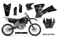 Dirt Bike Graphics Kit Decal Wrap For KTM  SX SXS EXC MXC 2001-2004 HATTER BLACK