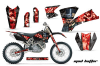 Dirt Bike Graphics Kit Decal Wrap For KTM  SX SXS EXC MXC 2001-2004 HATTER RED BLACK