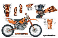 Dirt Bike Graphics Kit Decal Wrap For KTM  SX SXS EXC MXC 2001-2004 HATTER ORANGE WHITE