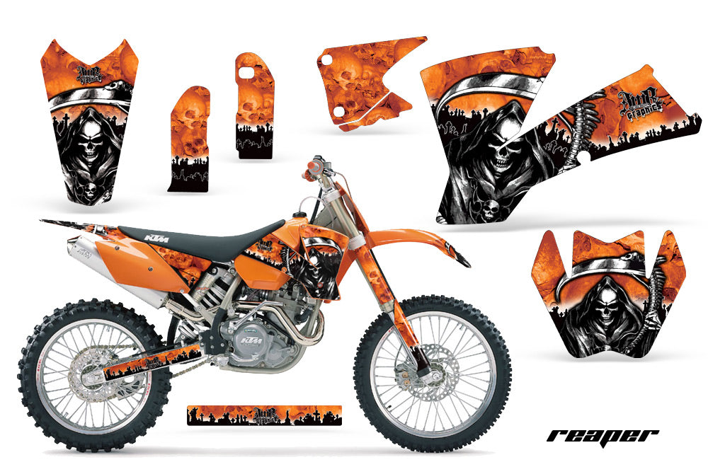 Dirt Bike Graphics Kit Decal Wrap For KTM SX SXS EXC MXC 2001-2004 REAPER ORANGE-atv motorcycle utv parts accessories gear helmets jackets gloves pantsAll Terrain Depot