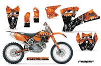 Dirt Bike Graphics Kit Decal Wrap For KTM  SX SXS EXC MXC 2001-2004 REAPER ORANGE