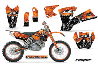 Graphics Kit Decal Wrap + # Plates For KTM  SX SXS EXC MXC 2001-2004 REAPER ORANGE