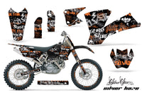 Graphics Kit Decal Wrap + # Plates For KTM  SX SXS EXC MXC 2001-2004 SSSH ORANGE BLACK