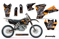 Dirt Bike Graphics Kit Decal Wrap For KTM  SX SXS EXC MXC 2001-2004 TOXIC ORANGE BLACK