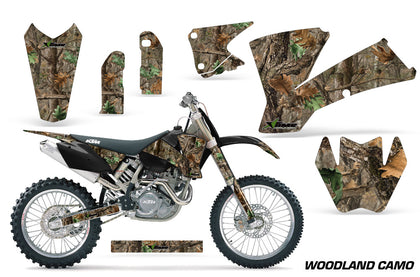 Dirt Bike Graphics Kit Decal Wrap For KTM SX SXS EXC MXC 2001-2004 WOODLAND CAMO-atv motorcycle utv parts accessories gear helmets jackets gloves pantsAll Terrain Depot