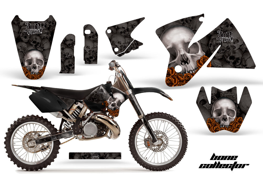 Dirt Bike Decal Graphic Kit Sticker Wrap For KTM SX/XC/EXC/MXC 1998-2001 BONES BLACK-atv motorcycle utv parts accessories gear helmets jackets gloves pantsAll Terrain Depot