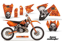 Dirt Bike Decal Graphic Kit Sticker Wrap For KTM SX/XC/EXC/MXC 1998-2001 BONES ORANGE