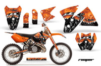 Dirt Bike Decal Graphic Kit Sticker Wrap For KTM SX/XC/EXC/MXC 1998-2001 REAPER ORANGE