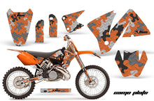 Load image into Gallery viewer, Dirt Bike Decal Graphic Kit Wrap For KTM EXC 200-520 MXC 200-300 2001-2002 CAMOPLATE ORANGE-atv motorcycle utv parts accessories gear helmets jackets gloves pantsAll Terrain Depot