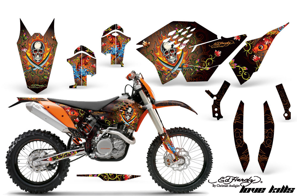Dirt Bike Graphics Kit Decal Wrap For KTM SX/XCR-W/EXC/XC/XC-W/XCF-W 2007-2011 EDHP ORANGE-atv motorcycle utv parts accessories gear helmets jackets gloves pantsAll Terrain Depot