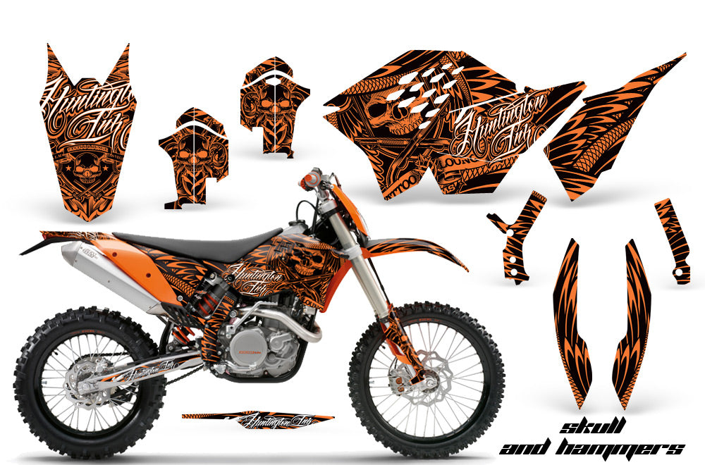 Dirt Bike Graphics Kit Decal Wrap For KTM SX/XCR-W/EXC/XC/XC-W/XCF-W 2007-2011 HISH ORANGE-atv motorcycle utv parts accessories gear helmets jackets gloves pantsAll Terrain Depot
