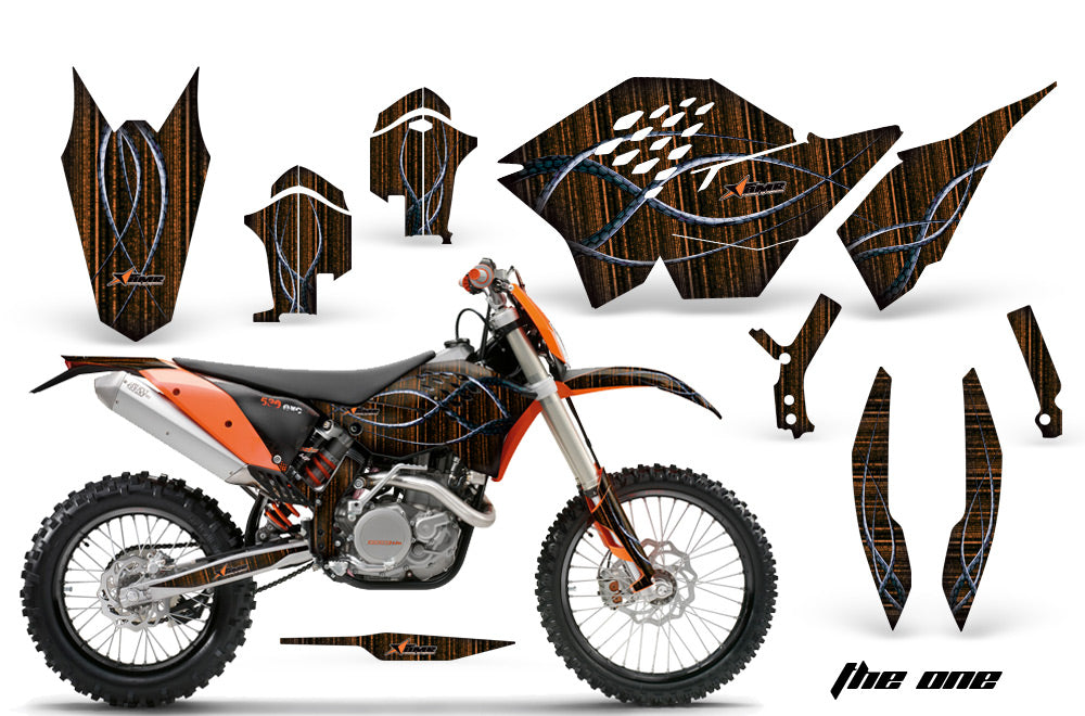 Dirt Bike Graphics Kit Decal Wrap For KTM SX/XCR-W/EXC/XC/XC-W/XCF-W 2007-2011 THE ONE ORANGE-atv motorcycle utv parts accessories gear helmets jackets gloves pantsAll Terrain Depot